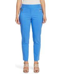 women's chaus dena zip pocket straight leg pants, size 8 - blue