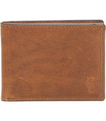 men's frye logan leather wallet - brown