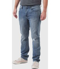 jeans lee luke azul - calce ajustado