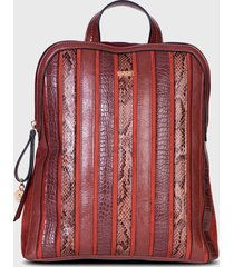 mochila akraness fw20 marrón secret by saxoline