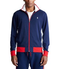 polo ralph lauren men's cotton interlock track jacket