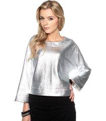 bluza metaliczna