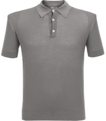 baracuta pique silver polo shirt brmag0002