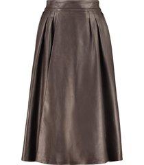 dolce & gabbana leather full skirt