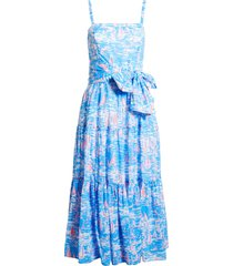 women's lilly pulitzer analeese dress, size 10 - blue
