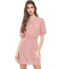 vestido colcci curto cut out rosa