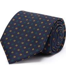 floral print silk twill tie