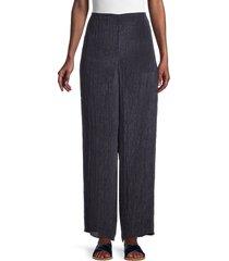 vince women's high-rise straight-leg pants - light marine - size s