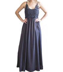 vestido bordado black zagora