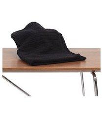 kit 6 toalha de rosto para salao de beleza, spas preta algodão