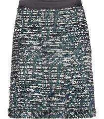 sparkle boucle skirt kort kjol svart karl lagerfeld