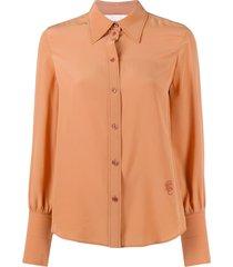 chloé pointed collar shirt - neutrals