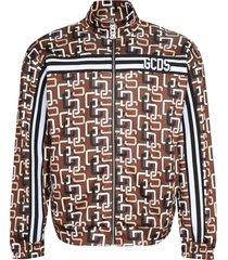 gcds printed cotton zipped sweatshirt