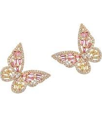 eye candy la women's luxe butterfly away crystal dangle earrings