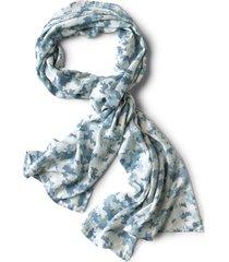 watercolor floral camo scarf