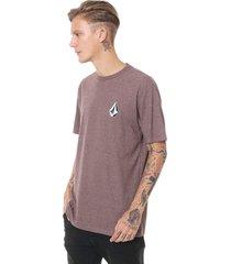 camiseta volcom deadly stone marrom - marrom - masculino - dafiti