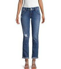 hudson women's collin straight-leg jeans - tansy - size 26 (2-4)