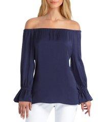 women's long sleeve convertible off the shoulder top