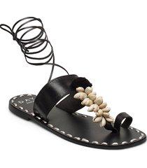 day shell sandal shoes summer shoes flat sandals svart day birger et mikkelsen