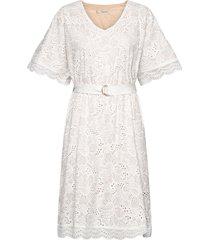 zoe dress knälång klänning vit underprotection