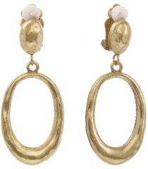 the sak oval drop clip earrings