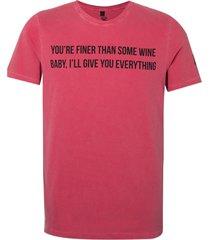 camiseta john john love songs red masculina (vermelho escuro, gg)