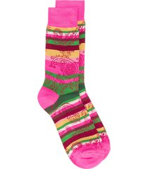 etro striped paisley pattern socks - pink