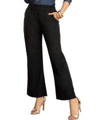 pantalon loose negro para mujer croydon