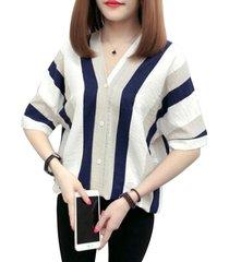 banda estilo impreso diseño de moda mujer cuello v camiseta de manga corta tops