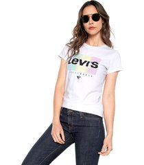camiseta blanco-multicolor levis