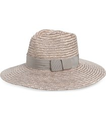 women's brixton joanna straw hat - metallic