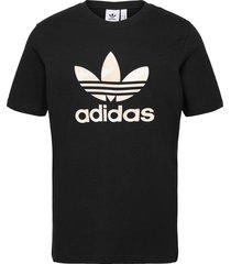 camo trefoil t-shirt t-shirts short-sleeved svart adidas originals