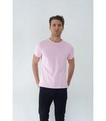 t shirt cuello redondo rosada