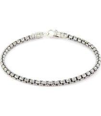 'venetian' silver chain bracelet - size m
