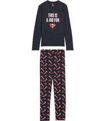 pigiama lungo uomo superman