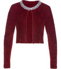 bolero in maglia con paillettes (rosso) - bpc selection premium