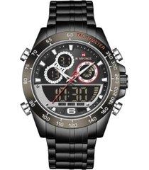reloj militar negro naviforce