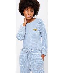 loft petite sunshine on my mind striped pajama top