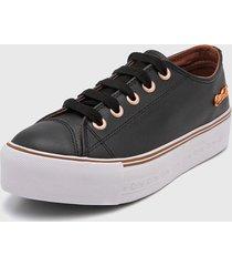 zapatilla negra coca-cola shoes atlanta plataforma leather