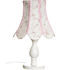 abajur madeira torneado cãºpula imperial potinho de mel rosa - rosa - menina - dafiti