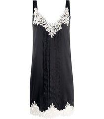 blumarine crochet shift dress - black