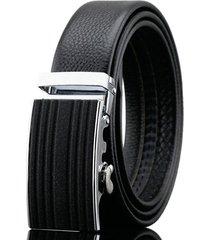 cintura di cuoio genuino di affari di 125-130cm cintura automatica di cuoio del primo strato per gli uomini