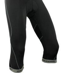 pantalon santic lycra ciclismo 3/4 unisex badana - negro