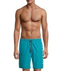 ted baker men's gadget logo swim shorts - coral - size 6 (xxl)