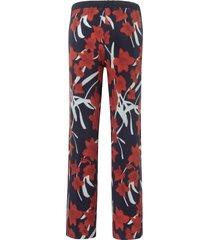 broek met elastische tailleband van margittes multicolour
