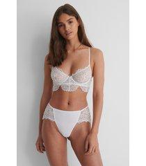 na-kd lingerie v-string - white