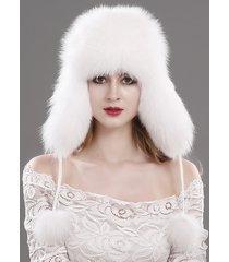 new women's winter trapper hat genuine fox raccoon fur russian ushanka hat