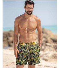 masculino swimwear pantaloneta verde leo 505027