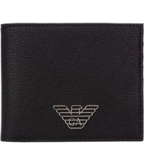 emporio armani double logo wallet