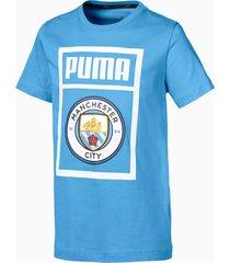 man city schoenlabel-t-shirt, blauw/wit, maat 116 | puma